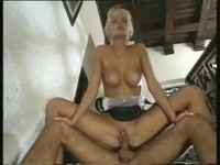Anita blond sexy maid