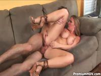 Blonde Devon Lee meets this guy and right away fucks him