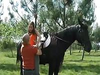 Nothing like a good horse ride to get her all warmed up and hot