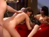 Lola and Nina Mercedez are in a threesome together sharing cock and pussy