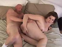 Sexy chubby Marley Mason sucks his cock before fucking him