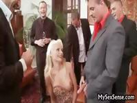 A jet set party ends up with a real nasty gangbang that everyone loves