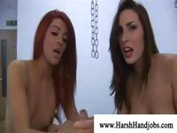 Megain Paige and Paige Turnah work together on this hard cock