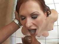 Katja Kassin gives a good POV while getting a load in the mouth