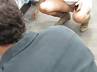 Public Upskirt - Showing Pussy in Store