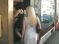 Two Portuguese Women goes to a Sex Shop.