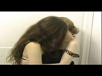 Young Girls Making Out In The Restroom (nonude)