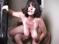 old slut saggy tits fuck