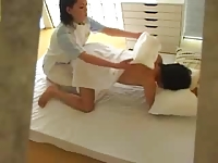 Japanese massage girl fucked