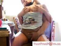 Busty Latina Rides Her Boyfriend While Chatting On Msn