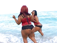 bbw black very big ass butt two bitch at the beatch
