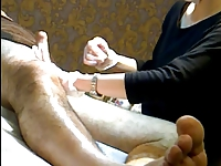 Wax Brazilian- Waxing my cock and balls Part 1