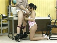 Premature Amateur Office nice Thai Asia Girl twice Cumshot! Very Hot,