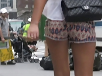 Sexy Walk in Shorts