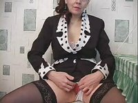 Old but sexy russian teacher