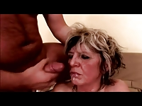 Saggy Tits Mature Milf in Stockings Fucks