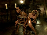 She Milk From Her Tied Slave's Big Nipples!!!!!!!