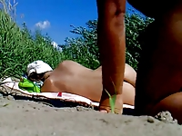 Rus Public BEACH FLASH CUM Watching GIRL 85 - NV
