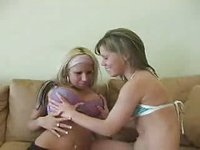 TEEN WITH BIG ONES AND TEEN WITH SMALL ONES