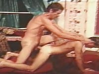 John Holmes fucking a guy hard in rare gay scene