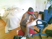 After work white top smokes then breeds blk twink