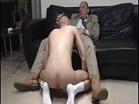 OLDER suited BEARDED DADs sucking RIM FUCK young BOYS ass