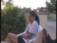 Horny Couple Having Public Sex  At The Roadside