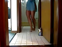 Brazilian girl dancing at home
