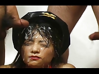Asian Bukkake - 87 Cumshots on One face - Japanese Festival
