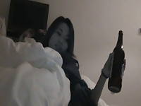 Chinese girl bottle masturbation