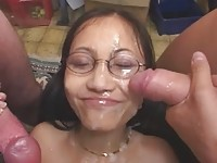 Expressive Asian Cumshots Lover with German Guys (bukkake)