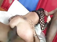 Alysia gets 3 bbc and double anal