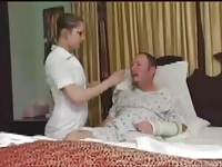 Man in panties examined by another nurse