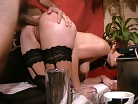 Wife gets her ass fucked and gets a facial