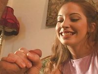 Gwen first handjob and facial-smile