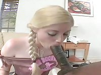 BLONDE CHARLOTTE STOKELY GETS FUCK BY A BIG BLACK COCK.