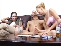 CFNM - Humiliation Cum on own Face - Ladies laugh