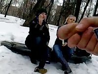 Rus Public Masturb Park CUM Watching PeSteR GIRLS 69 - NV