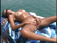 Amateur couple on the boat
