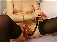 wife french playing with her big pussy ,toys and pump