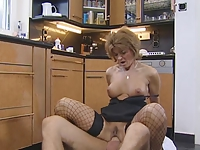 Hot Redhead German Mature Gets Pounded