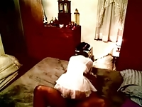Hidden cam caught my granny having fun with young lover