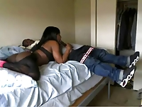 Black tranny and two different dicks