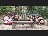 Kinky outdoor latex orgy