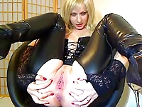 latex bitch with dildo