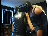 MN - Mistress with CD slave in latex. Anal fun Part 1