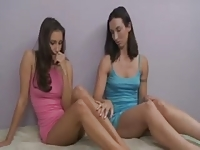 Celeste Star and Wenona lesbian seduction
