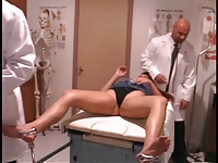Hot patient gets her pussy and ass checked by hung doctors