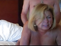 Big Tits Mature Sharing Nipples and Getting Doggie Fucked