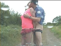 exhibitionist tranny bitch sucks and gets fucked in public